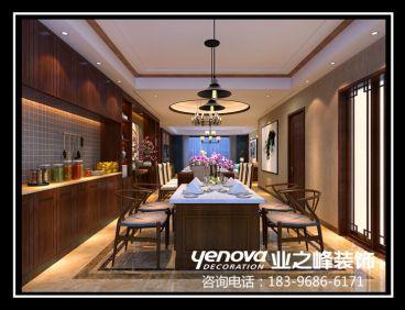 开元府新中式餐厅效果图