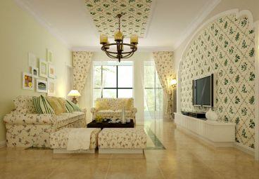 大名都119平二室二厅恬淡田园装修效果图