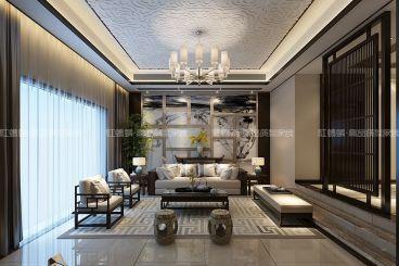 弘阳上院新中式客厅效果图