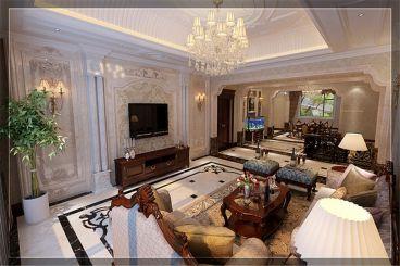 天茂湖557平四室三厅欧式古典装修效果图