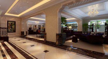 华业龙玺别墅487平三厅新中式装修效果图