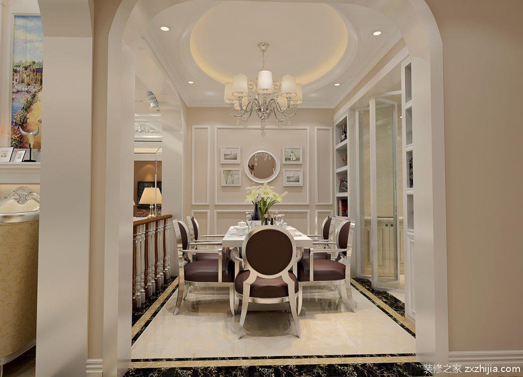 国墅苑200平四室四厅美式装修效果图