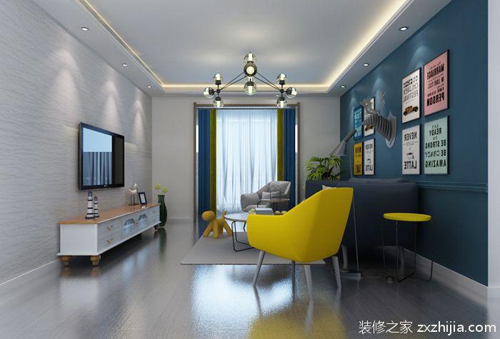 逸翠苑98平二室二厅现代简约装修效果图