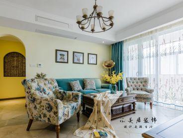 世纪春城123平三室二厅美式装修效果图