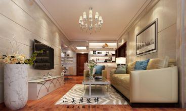 盛世江南96平三室二厅现代简约装修效果图