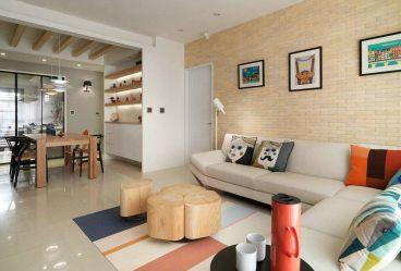 绿地城112平三室二厅简欧装修效果图