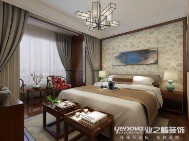 舜兴东方新中式卧室效果图