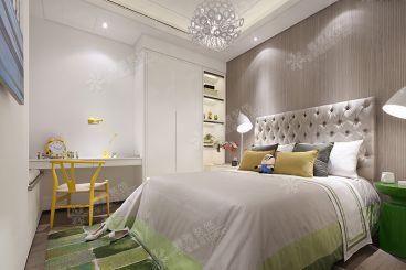 弘阳上城欧式古典卧室效果图