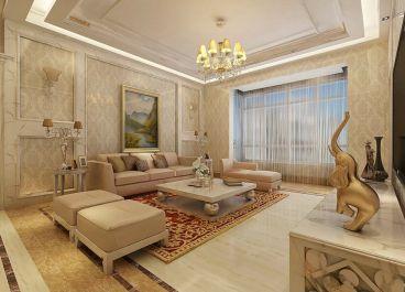 龙喜苑130平三室二厅简欧装修效果图