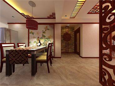 卓达书香园96平二室二厅新中式装修效果图