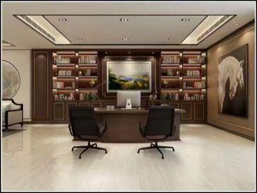 西城大厦1100平现代简约装修效果图