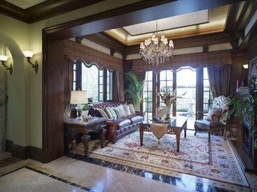 飞天花园225平四室二厅美式装修效果图