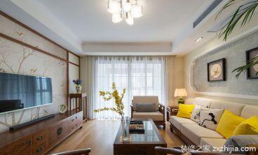 新中式风格100平家庭装修效果图