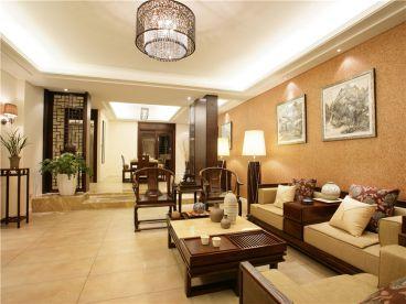 保利领秀山336平五室三厅新中式装修案例