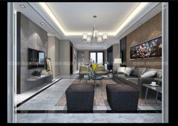 复地新都国际现代简约客厅效果图