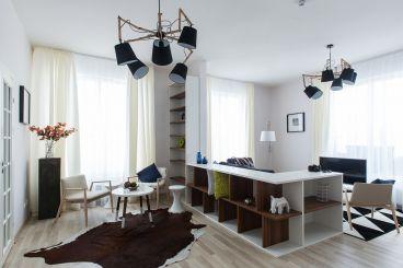 融科心贻湾87平二室二厅现代简约装修案例