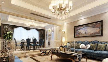 碧桂园欧式古典客厅效果图