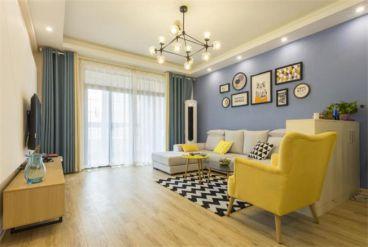 97㎡北歐小清新之家時尚混搭客廳效果圖