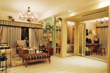 百合园129平三室一厅恬淡田园装修效果图