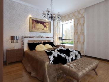 天庆格林小镇欧式古典卧室效果图