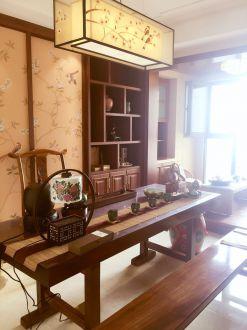 名门世家127平三室二厅新中式装修效果图
