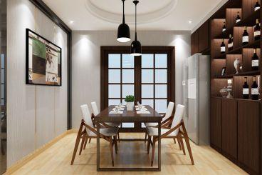 碧桂园128平三室二厅现代简约装修效果图
