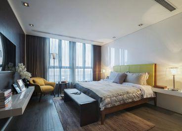 万达西地现代简约卧室效果图