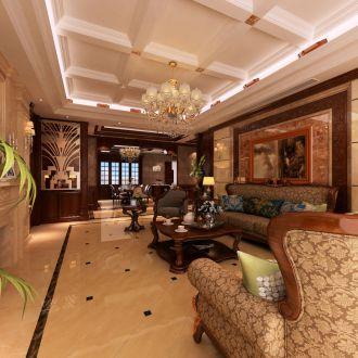 名流印象190平三室二厅新中式装修效果图