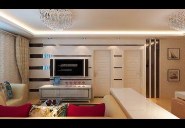 海顿公馆110平三室一厅现代简约装修案例