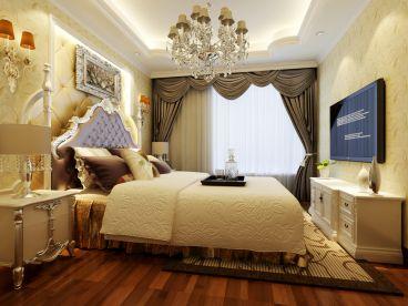 爱家星河国际欧式古典卧室效果图