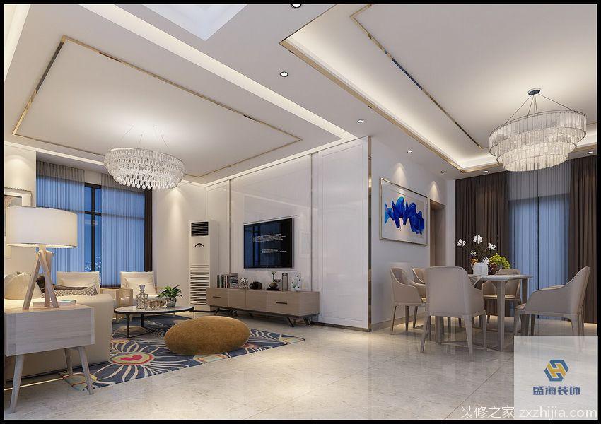 长安小产权房现代简约三室二厅装修效果图