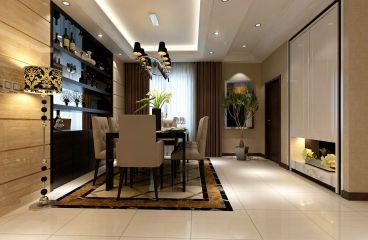 天庆国际新城96平三室二厅美式装修效果图