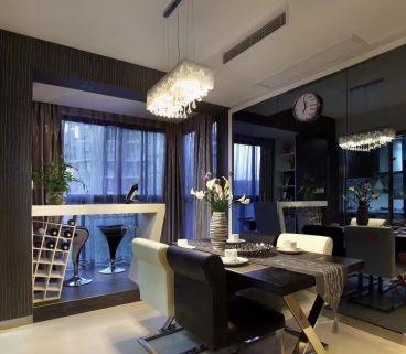 新华园168平三室一厅现代简约装修效果图