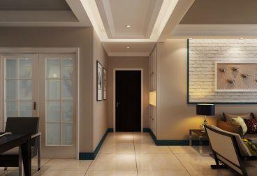 格兰绿都105平三室二厅简欧装修效果图