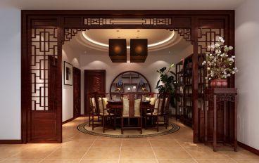 江南明珠94平三室二厅新中式装修效果图