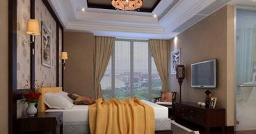 港宏世家新中式风格卧室装修效果图