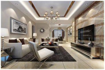 光明峰荟150平四室二厅简欧装修效果图