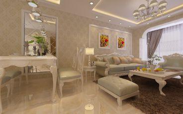 中海康城85平二室二厅现代简约装修效果图