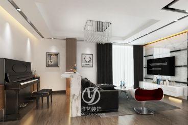 海珠区东银广场95平三室二厅现代简约装修