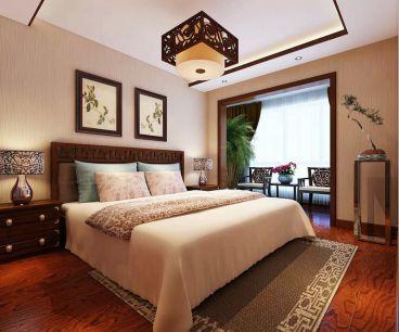 国宾中央区新中式卧室效果图