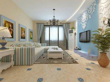 郁金蓝湾全包三室二厅装修效果图