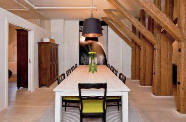 原木,软装现代简约餐厅效果图