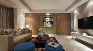长安逸和国际公馆三室二厅现代简约装修效果