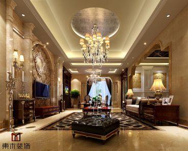 中隆玉玺三室二厅300平装修效果图