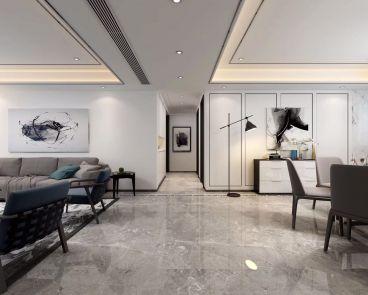 江南世家半包三室一厅装修效果图