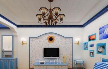 海亮长桥府二室一厅地中海装修效果图