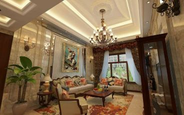 中海国际社区三室二厅全包装修效果图