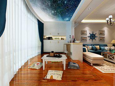 金江小区地中海三室一厅装修效果图