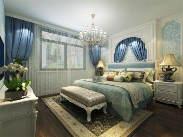 团泊湖鸿雁岛 现代简约卧室效果图