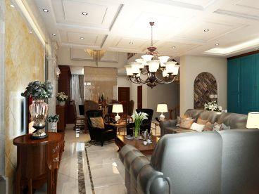 蓝庭国际欧式古典客厅效果图